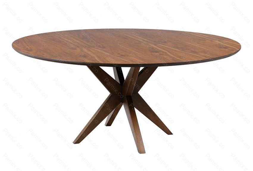 میز ناهارخوری گرد 8 نفره مدل ALMONDکد DT15