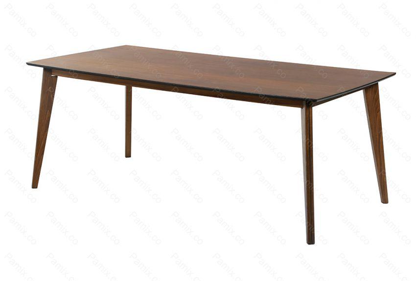 میز ناهارخوری چوبی 6 نفره 1 تکه مدل OAK کد DT6