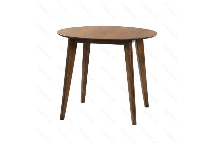 میز ناهارخوری چوبی 4 نفره گرد مدل OAK کد DT8